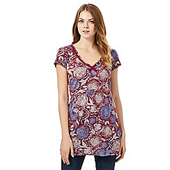 Mantaray - Dark red floral tunic