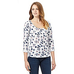 Mantaray - White umbrella printed top