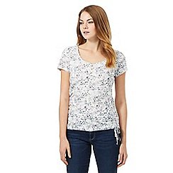 Mantaray - White bicycle printed top