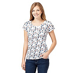 Mantaray - White smudgy spot print t-shirt