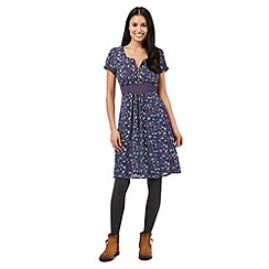 Mantaray - Navy teacup print crepe dress