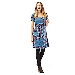 Mantaray - Dark blue floral print dress