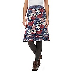 Mantaray - Blue floral jersey skirt