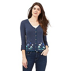 Mantaray - Dark blue balloon applique cardigan