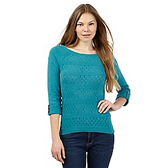 Mantaray - Dark green pointelle jumper