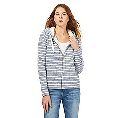 Mantaray - Blue striped print hoodie