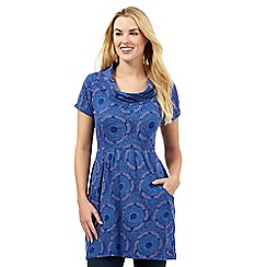 Mantaray - Blue dotty smudge tunic