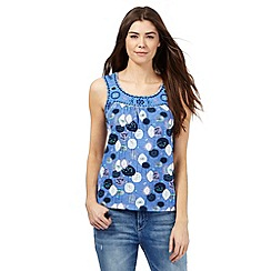 Mantaray - Blue tree print vest top