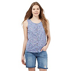Mantaray - Light purple apple print sleeveless top