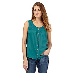 Mantaray - Green broidery top