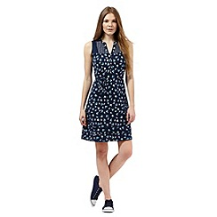 Mantaray - Navy apple print sleeveless dress
