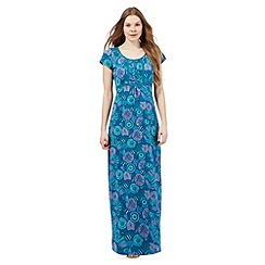 Mantaray - Dark green floral print maxi dress