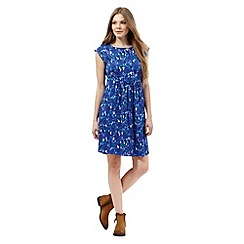 Mantaray - Blue pear and tree print dress