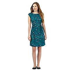 Mantaray - Dark green floral print dress