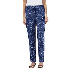 Mantaray - Blue bird print trousers