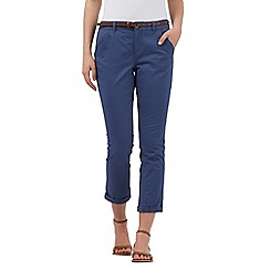 Mantaray - Blue belted cropped chinos
