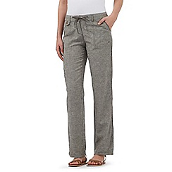 Mantaray - Khaki linen blend trousers