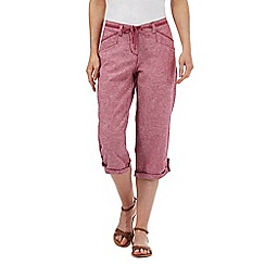 Mantaray - Dark pink marl cropped trousers
