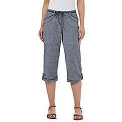 Mantaray - Grey marl cropped trousers