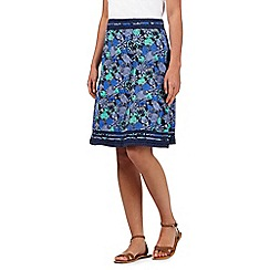 Mantaray - Navy apple and pears print skirt