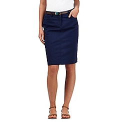 Mantaray - Navy plain A line skirt
