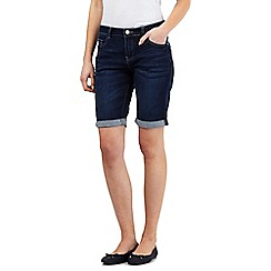 Mantaray - Blue dark wash denim shorts