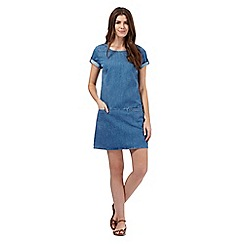 Mantaray - Light blue denim tunic dress