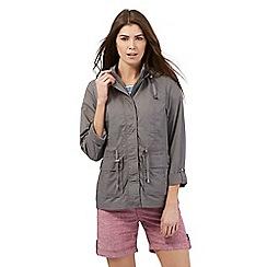 Mantaray - Grey plain zipped mac coat