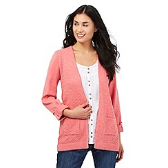 Mantaray - Pink pointelle draped cardigan