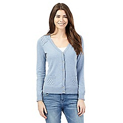 Mantaray - Light blue pointelle cardigan