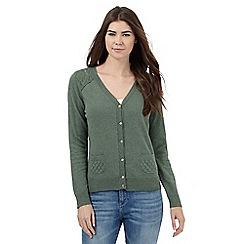 Mantaray - Green pointelle cardigan
