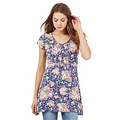 Mantaray - Blue floral print tunic
