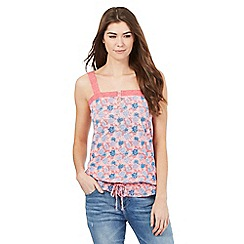 Mantaray - Pink floral print cami top