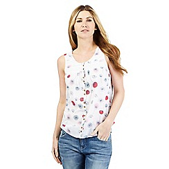 Mantaray - White floral print sleeveless top