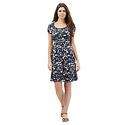 Mantaray - Navy ladybird print garden dress
