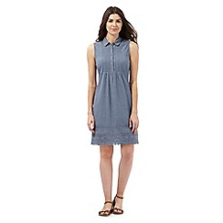Mantaray - Light blue chambray shirt dress