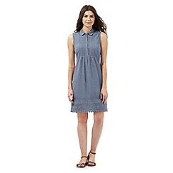 Mantaray - Light blue chambray shirt dress