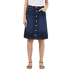 Mantaray - Blue A-line denim skirt