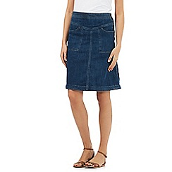 Mantaray - Blue denim A-line skirt