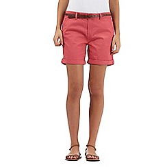 Mantaray - Pink belted chino shorts