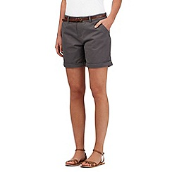 Mantaray - Grey belted chino shorts