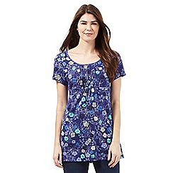 Mantaray - Purple floral print tunic top