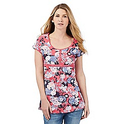 Mantaray - Pink floral print tunic