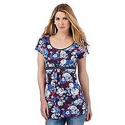 Mantaray - Navy floral print tunic