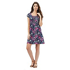 Mantaray - Pink and navy floral print dress