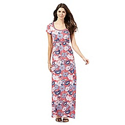 Mantaray - Pink floral print maxi dress
