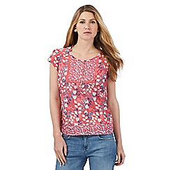 Mantaray - Pink floral print top