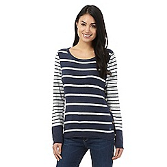 Mantaray - Navy striped jumper