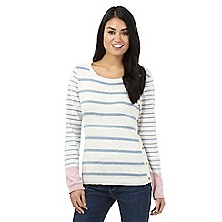 Mantaray - Cream striped jumper