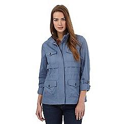 Mantaray - Light blue four pocket jacket